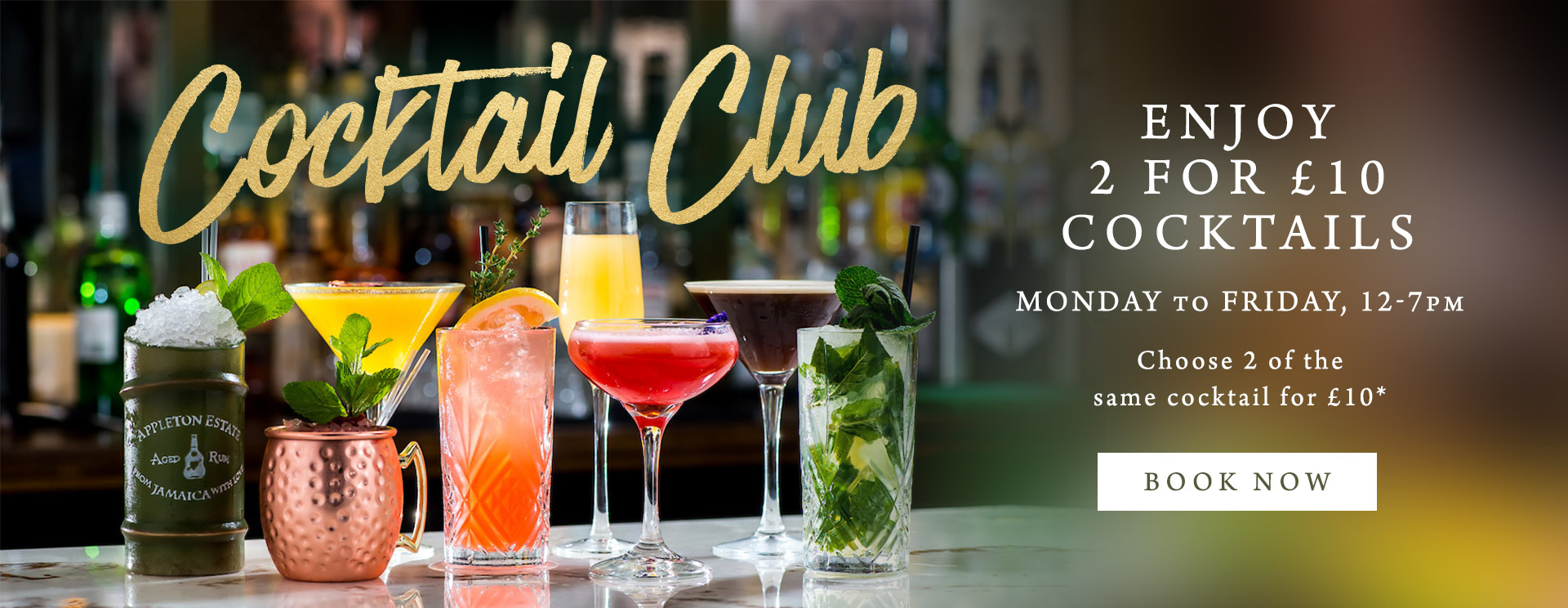 2 for £10 cocktails at The Bell