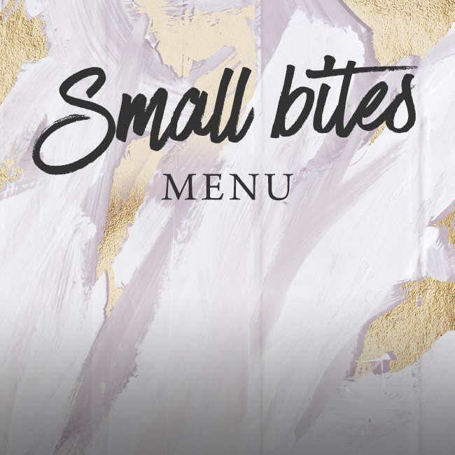 Small Bites menu at The Bell